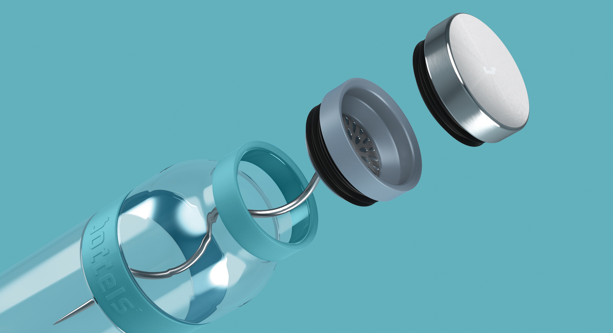קראף מים טורקיז עם אינפיוזר SUND