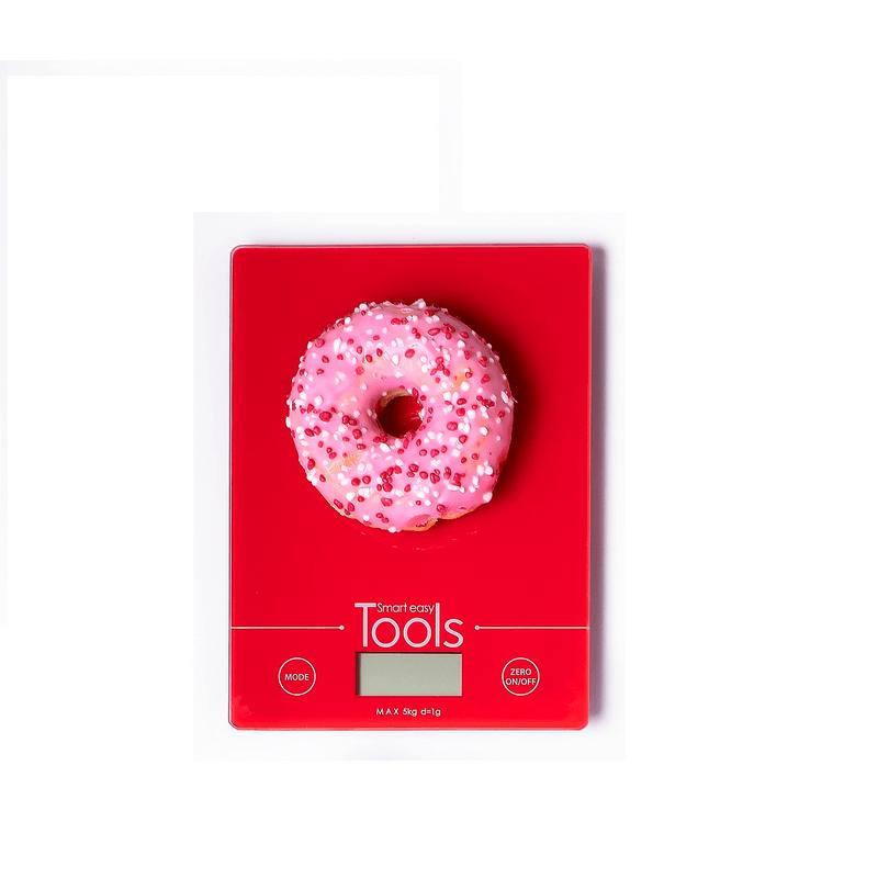 סט משקל דיגיטלי זכוכית, תבנית קפיץ נונסטיק ומערוך עץ Roso Glaze