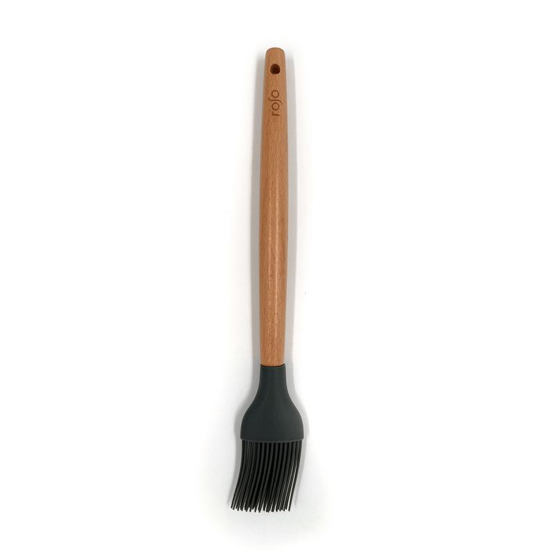מברשת סיליקון ידית עץ