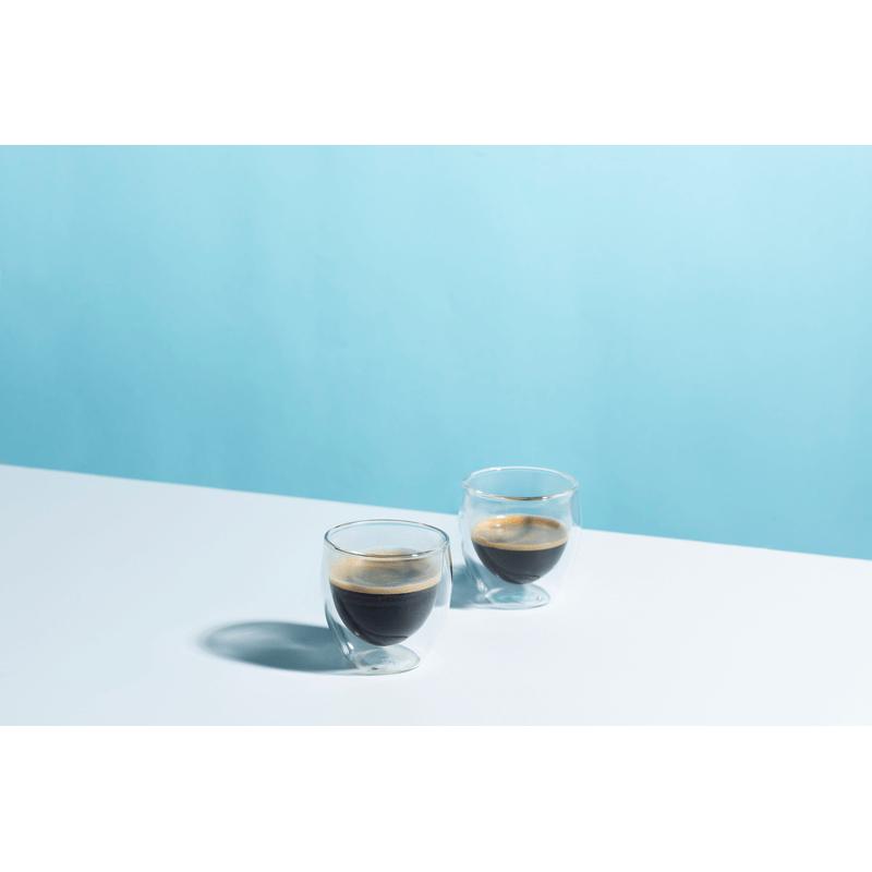 זוג כוסות אספרסו דופן כפולה ROME 80